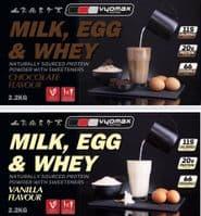 Milk, Egg & Whey Vanilla protein powder   Vyomax Nutrition